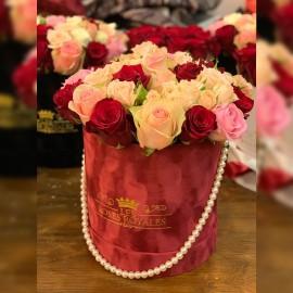 Pearl Glam Red Velvet box