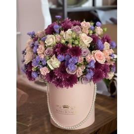 Bouquet Mix Rose et Violet