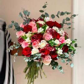 Bouquet Champêtre Rouge,...